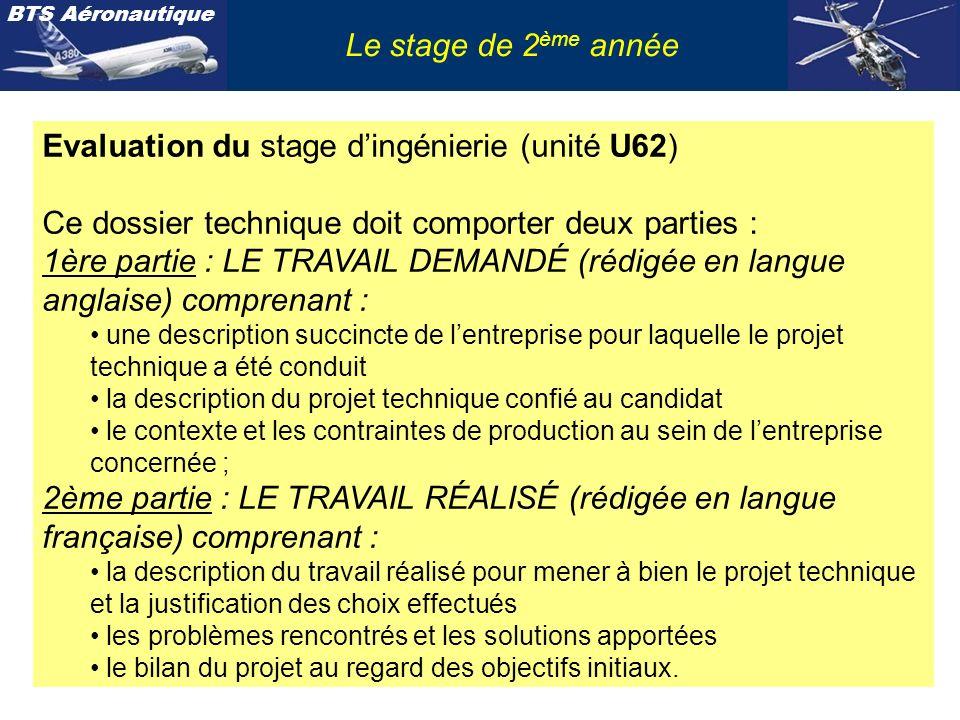 Evaluation du stage d'ingénierie (unité U62)