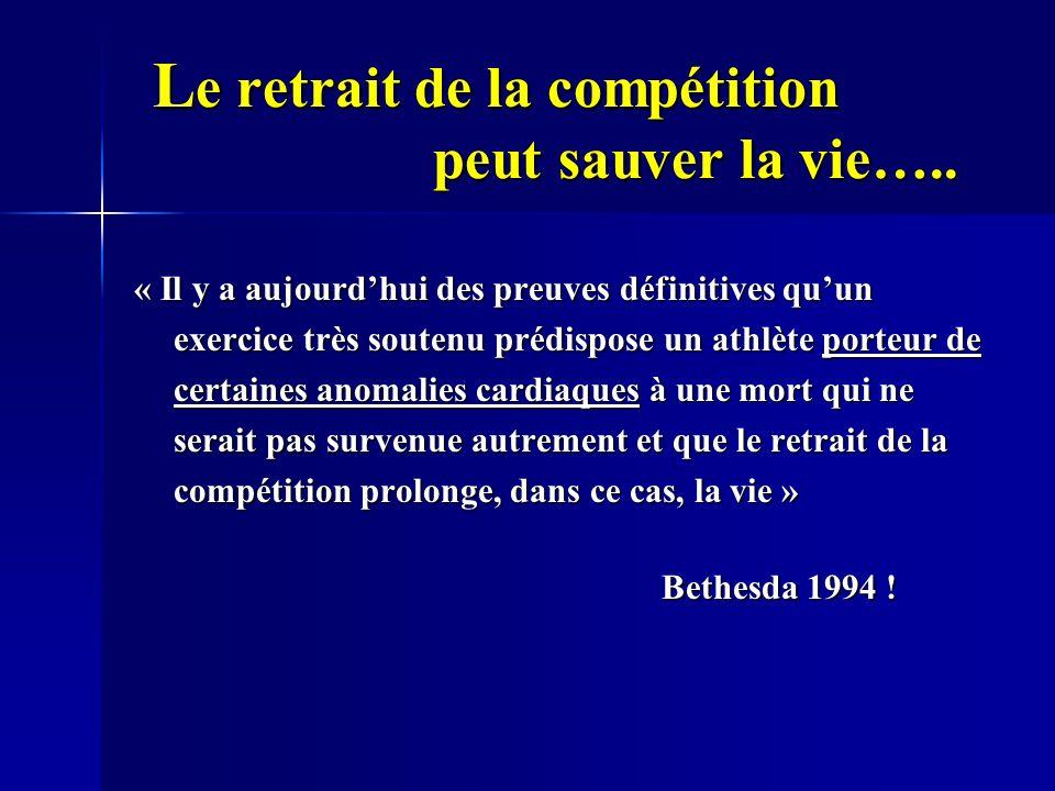 Le retrait de la compétition peut sauver la vie…..