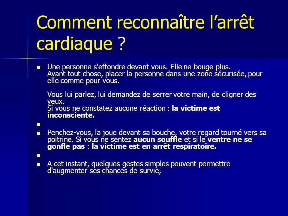 Comment reconnaître l'arrêt cardiaque