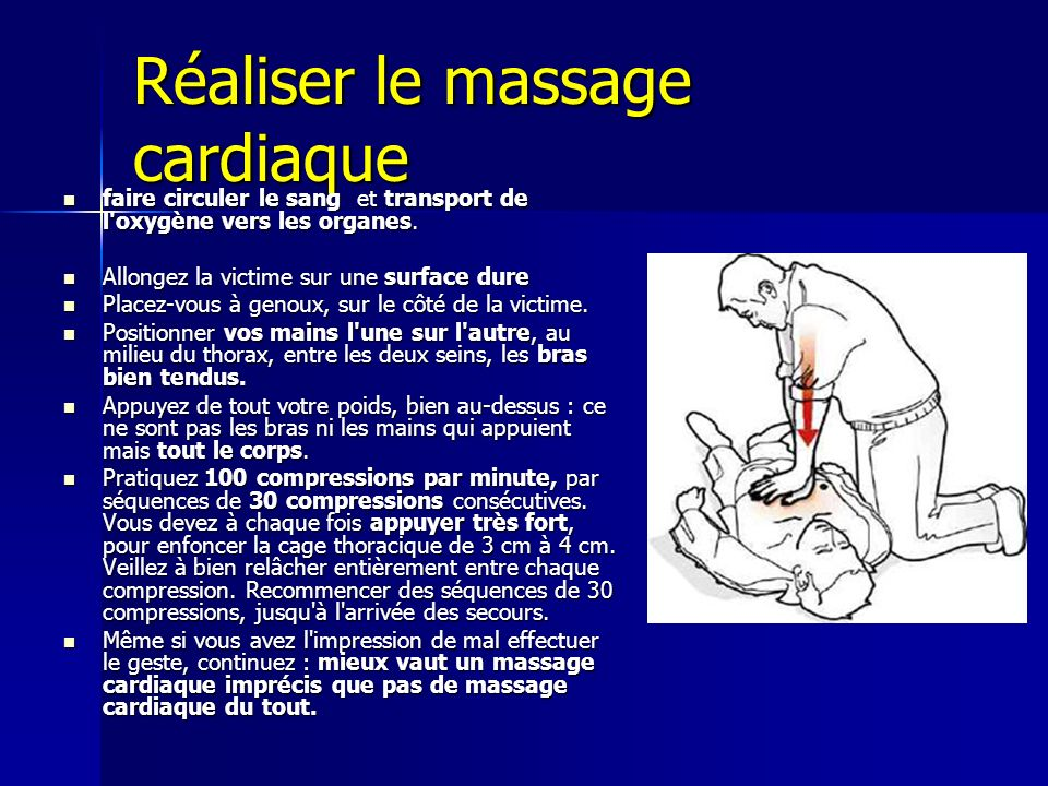 Réaliser le massage cardiaque