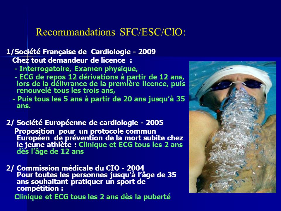 Recommandations SFC/ESC/CIO: