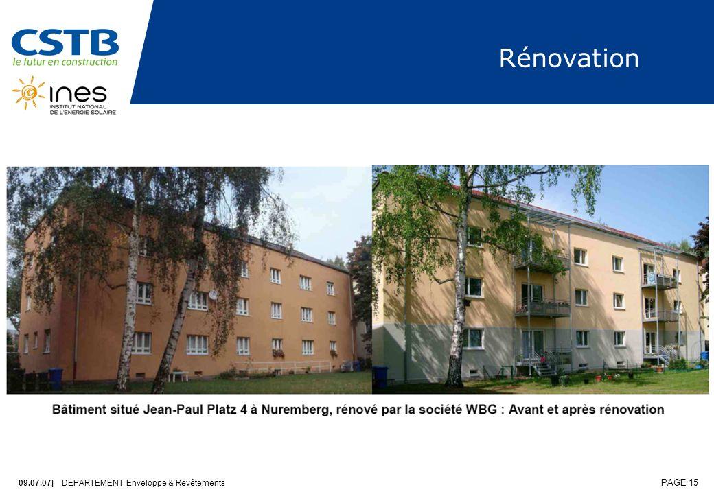 Rénovation 09.07.07| DEPARTEMENT Enveloppe & Revêtements