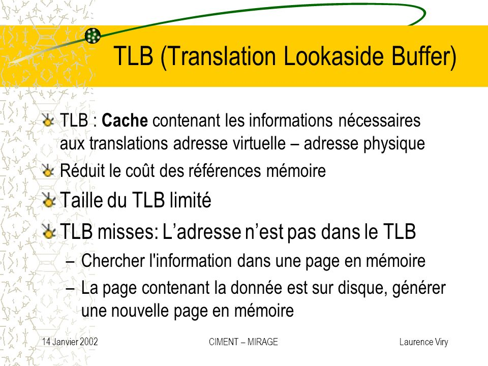 TLB (Translation Lookaside Buffer)