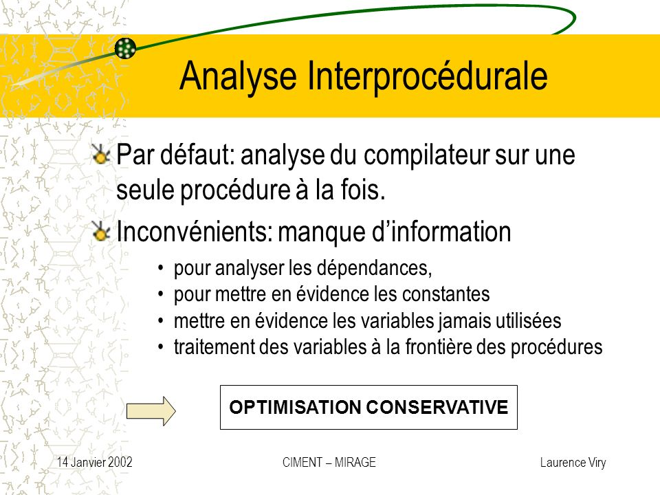 Analyse Interprocédurale