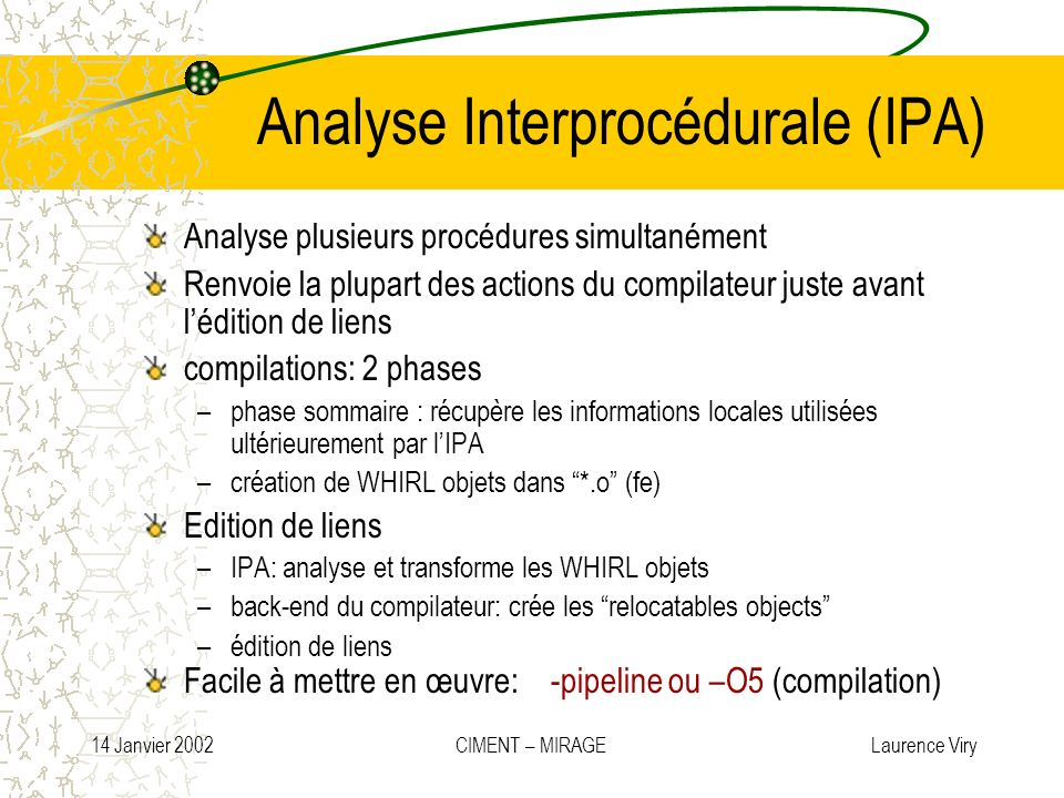 Analyse Interprocédurale (IPA)