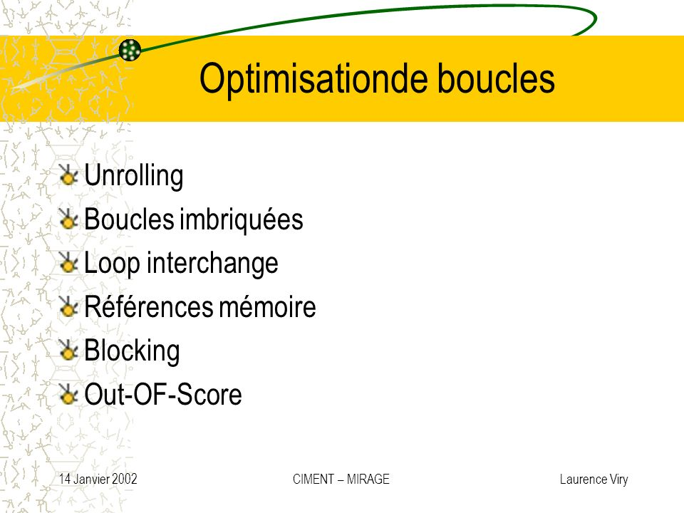 Optimisationde boucles