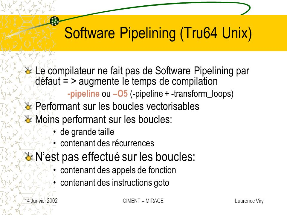 Software Pipelining (Tru64 Unix)