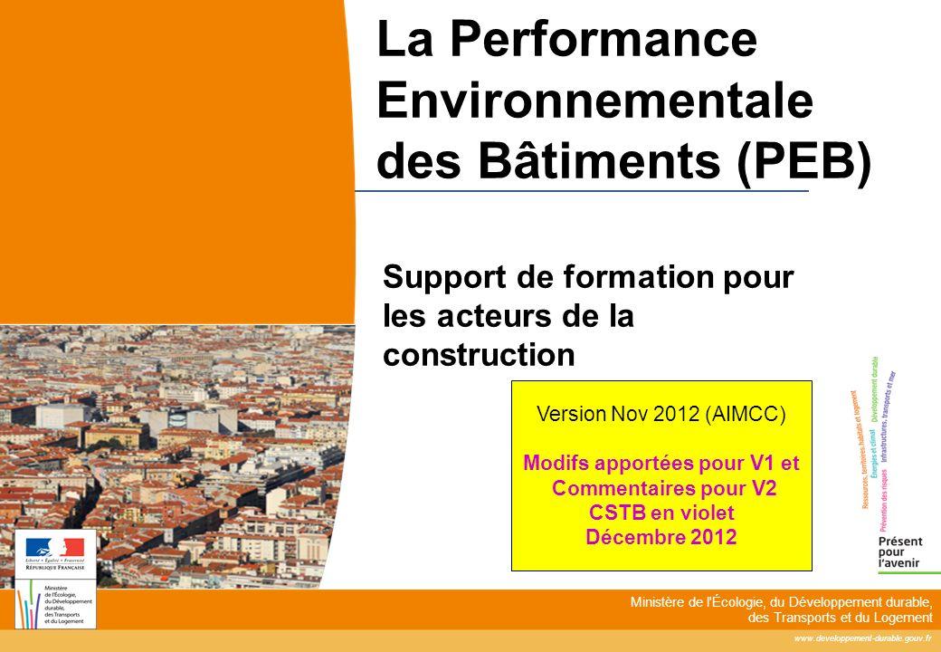 La Performance Environnementale des Bâtiments (PEB)
