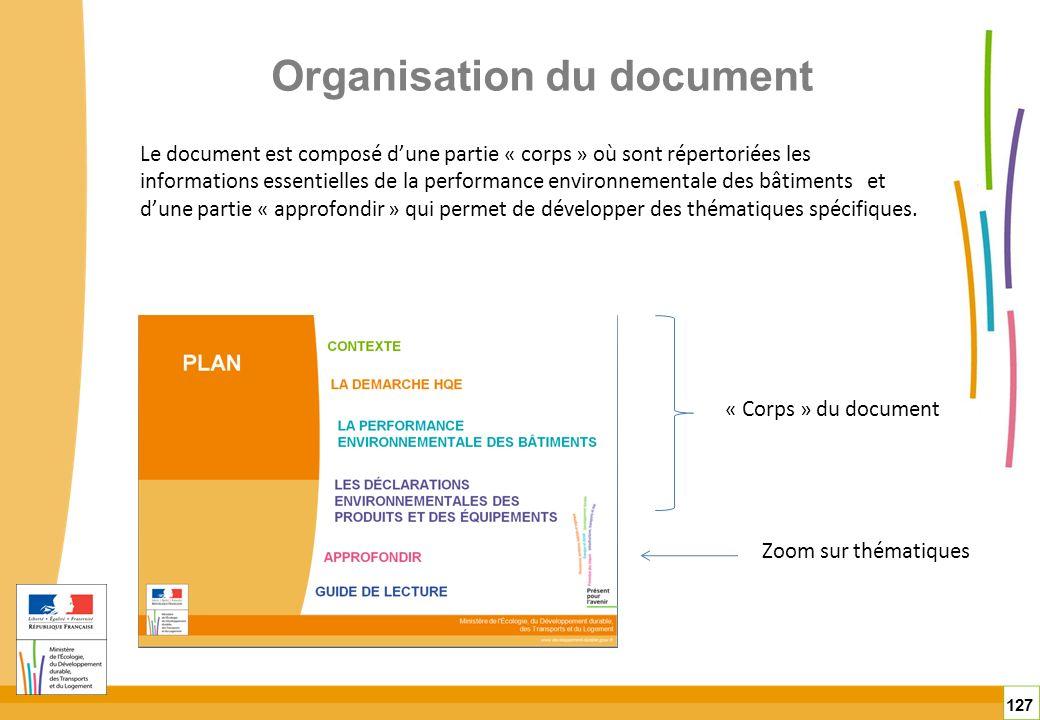 Organisation du document