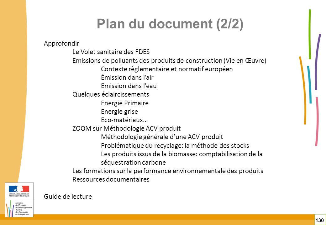 Plan du document (2/2) Approfondir Le Volet sanitaire des FDES