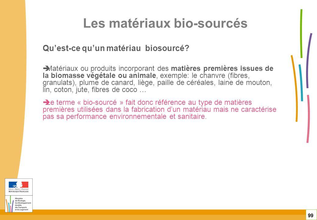 Les matériaux bio-sourcés