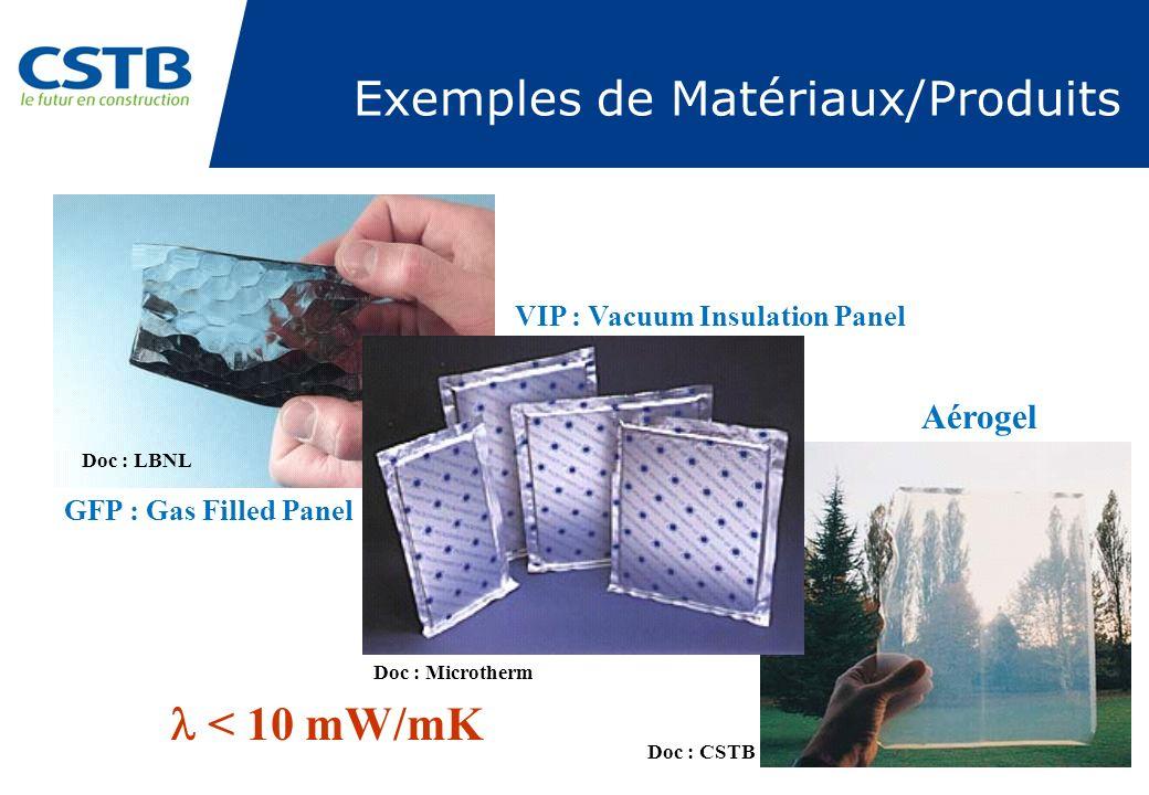 Exemples de Matériaux/Produits