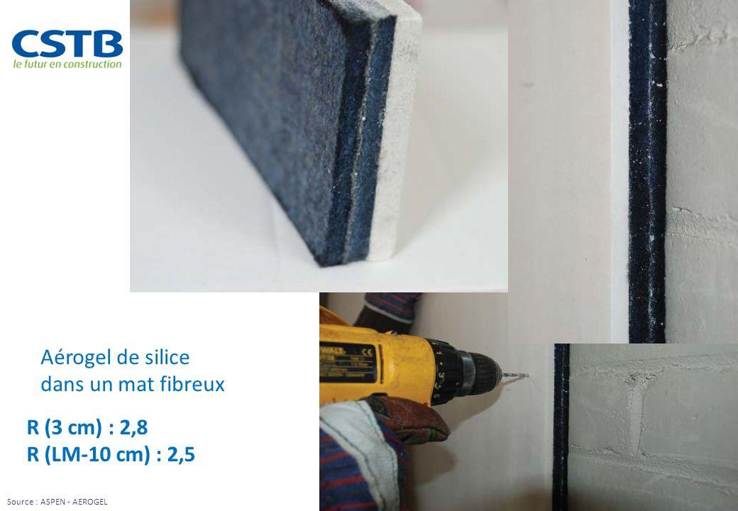 Aérogel de silice dans un mat fibreux R (3 cm) : 2,8