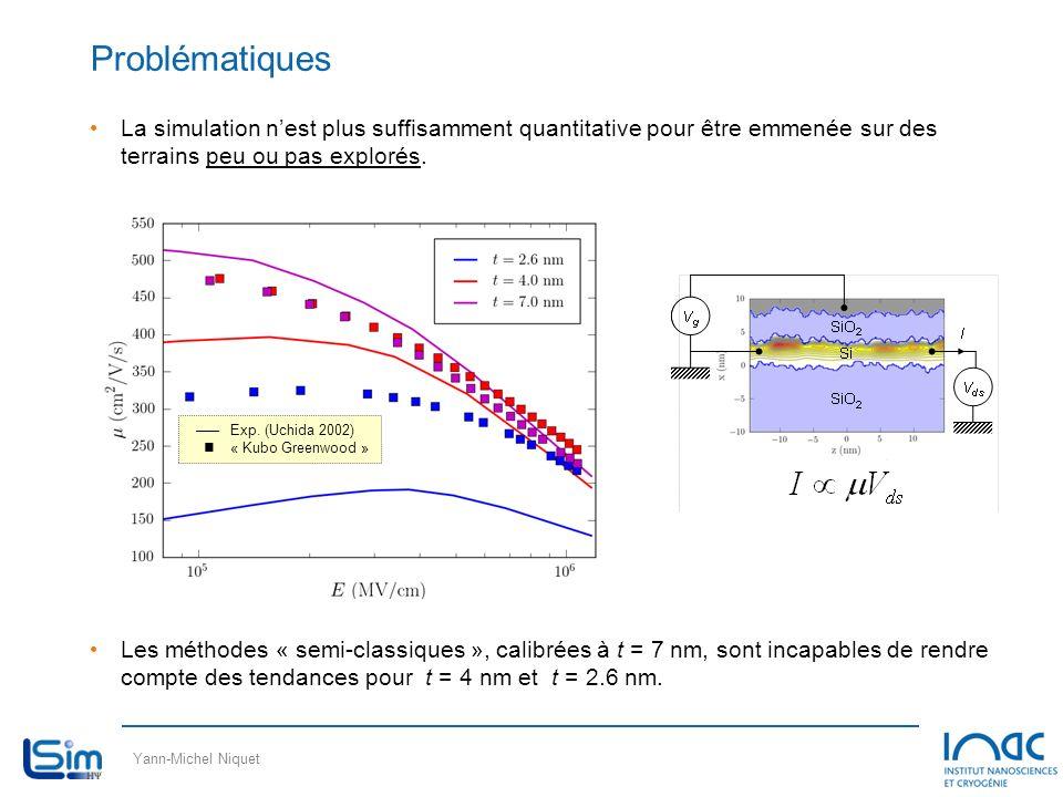 Problématiques La simulation n'est plus suffisamment quantitative pour être emmenée sur des terrains peu ou pas explorés.
