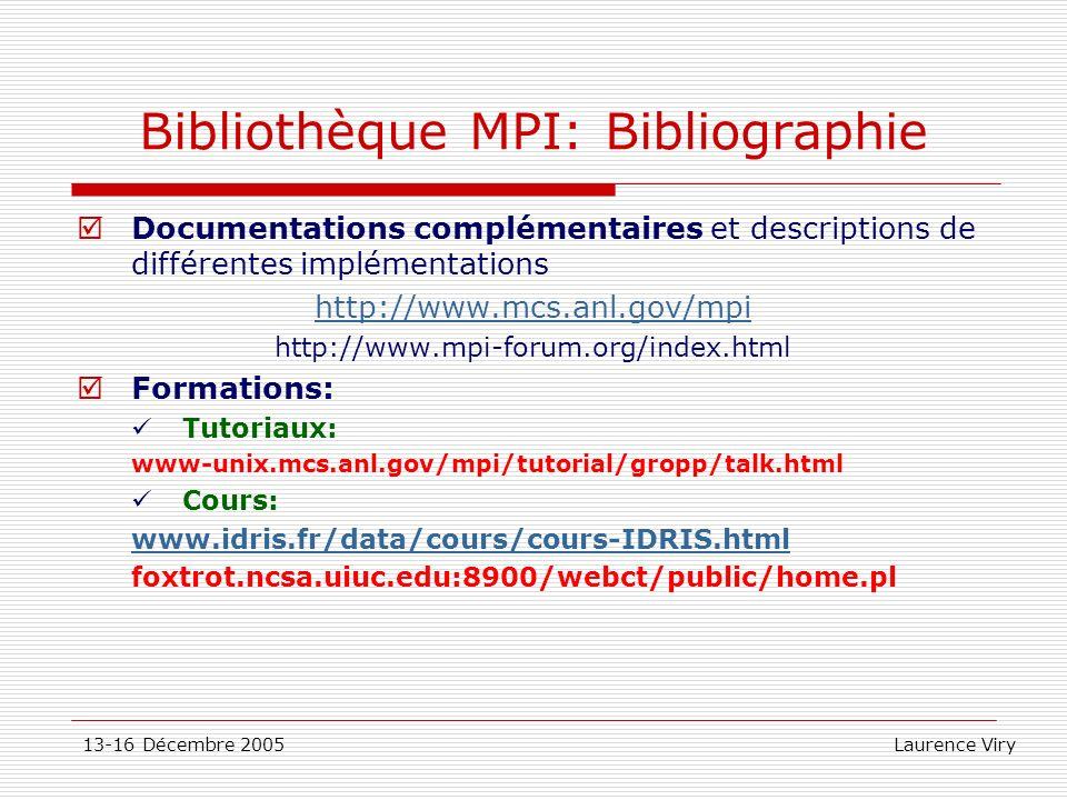 Bibliothèque MPI: Bibliographie