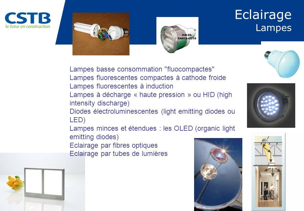 Eclairage Lampes Lampes basse consommation fluocompactes