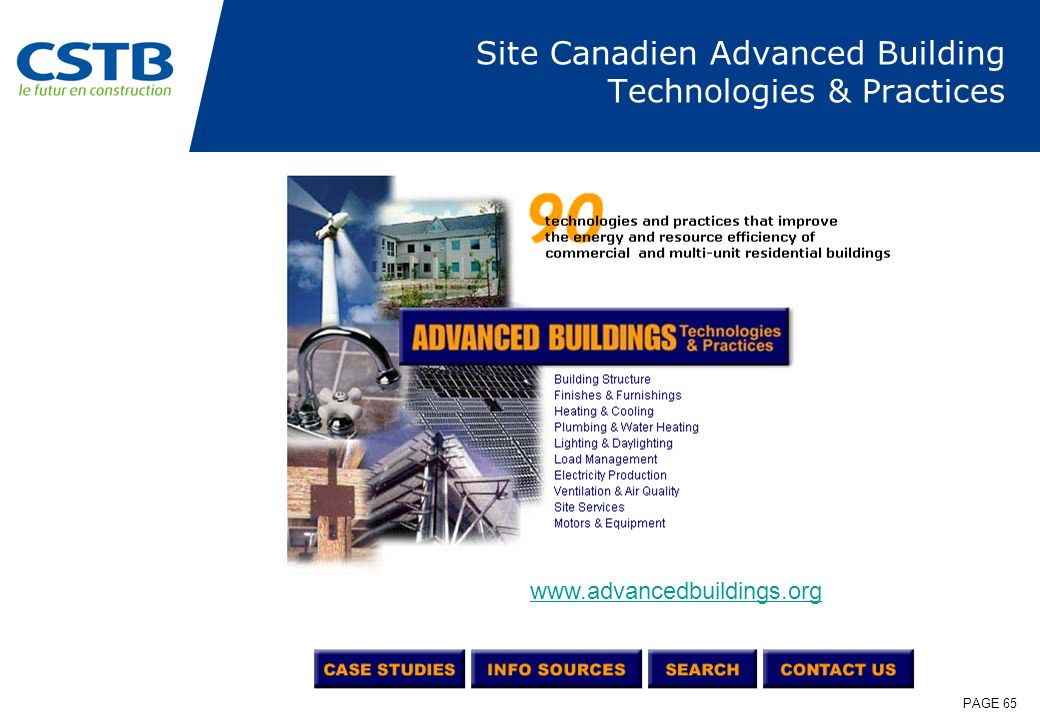 Site Canadien Advanced Building Technologies & Practices