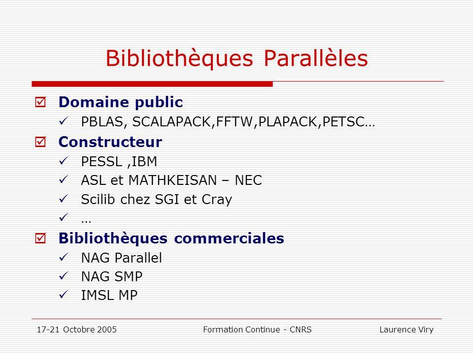 Bibliothèques Parallèles