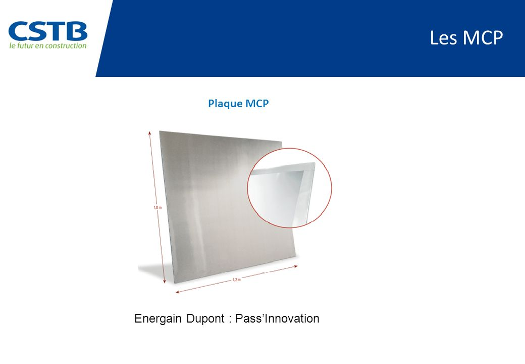 Les MCP Plaque MCP Energain Dupont : Pass'Innovation