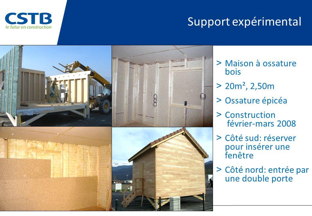 Support expérimental Maison à ossature bois 20m², 2,50m