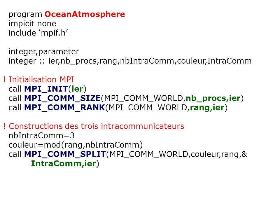 program OceanAtmosphere