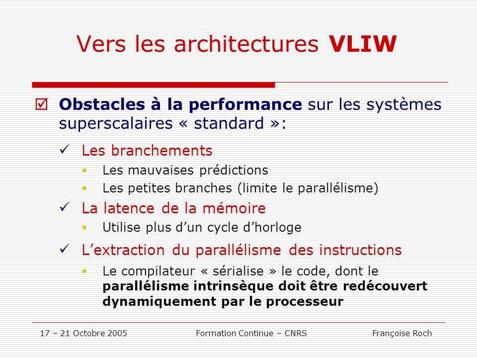Vers les architectures VLIW