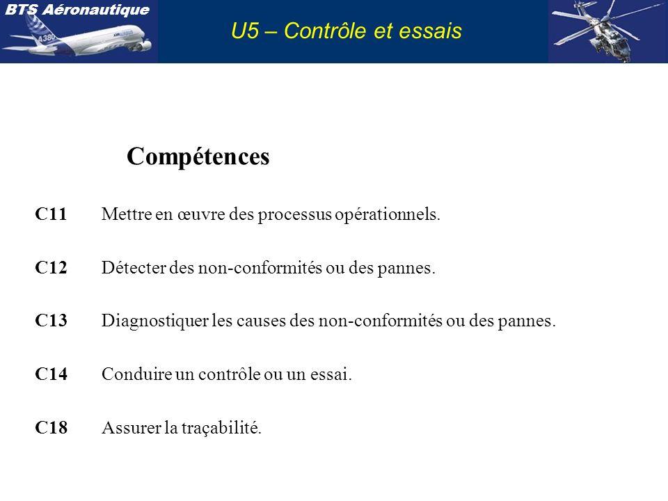 Compétences U5 – Contrôle et essais