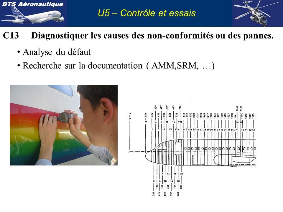 C13 Diagnostiquer les causes des non-conformités ou des pannes.
