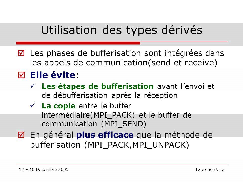 Utilisation des types dérivés