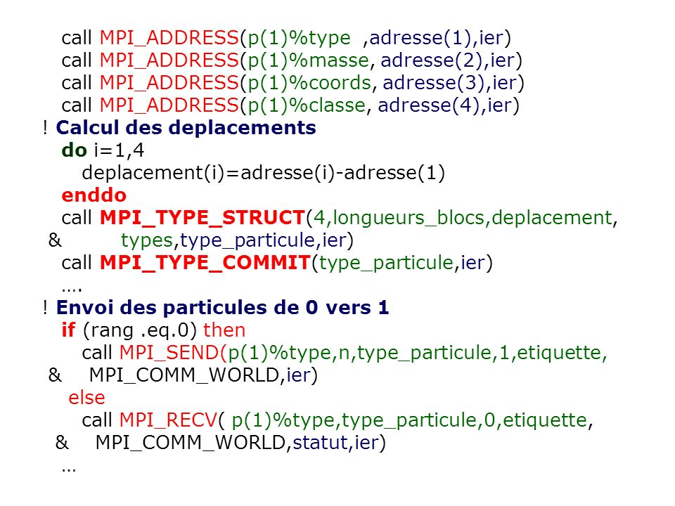 call MPI_ADDRESS(p(1)%type ,adresse(1),ier)