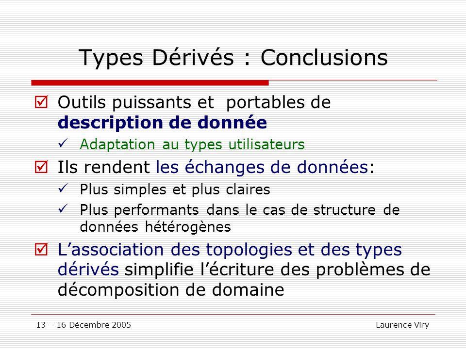 Types Dérivés : Conclusions
