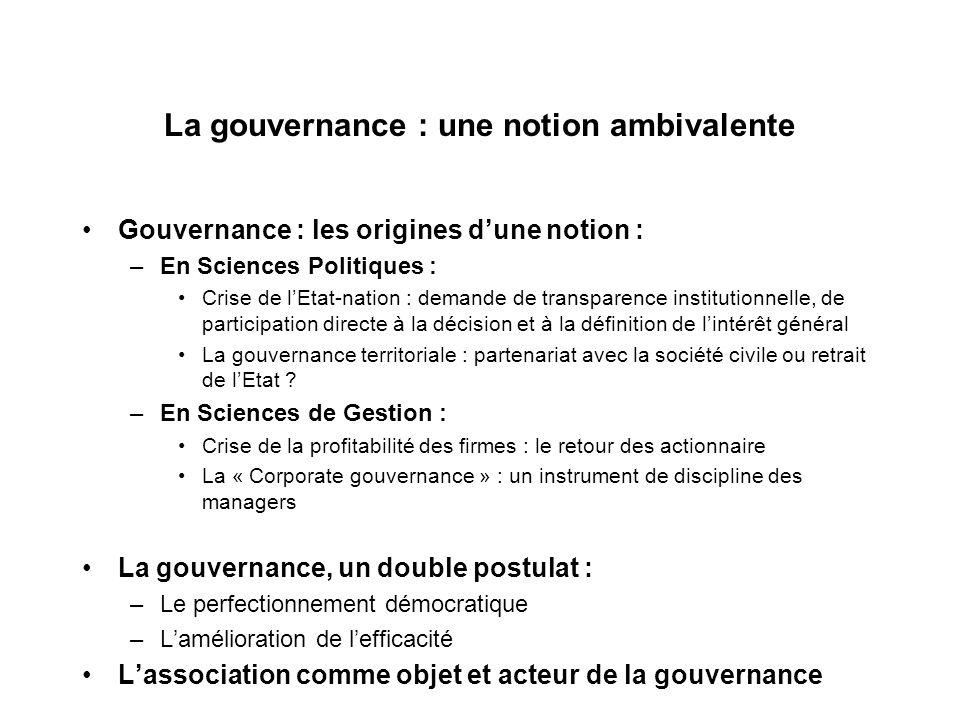 La gouvernance : une notion ambivalente