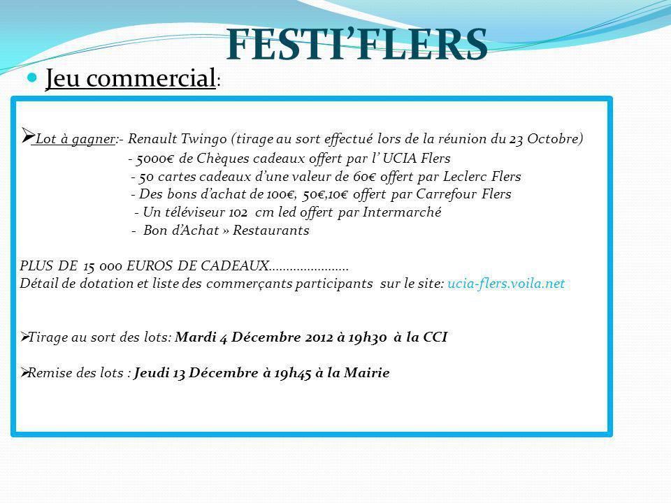 FESTI'FLERS Jeu commercial: