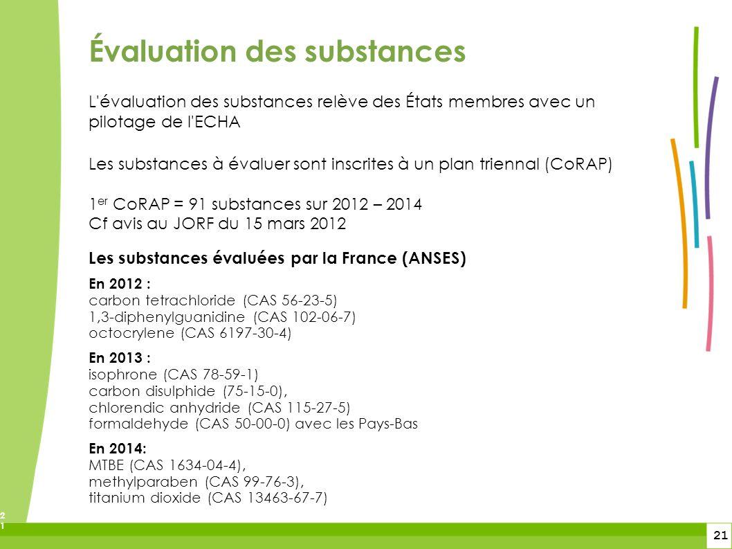 Évaluation des substances