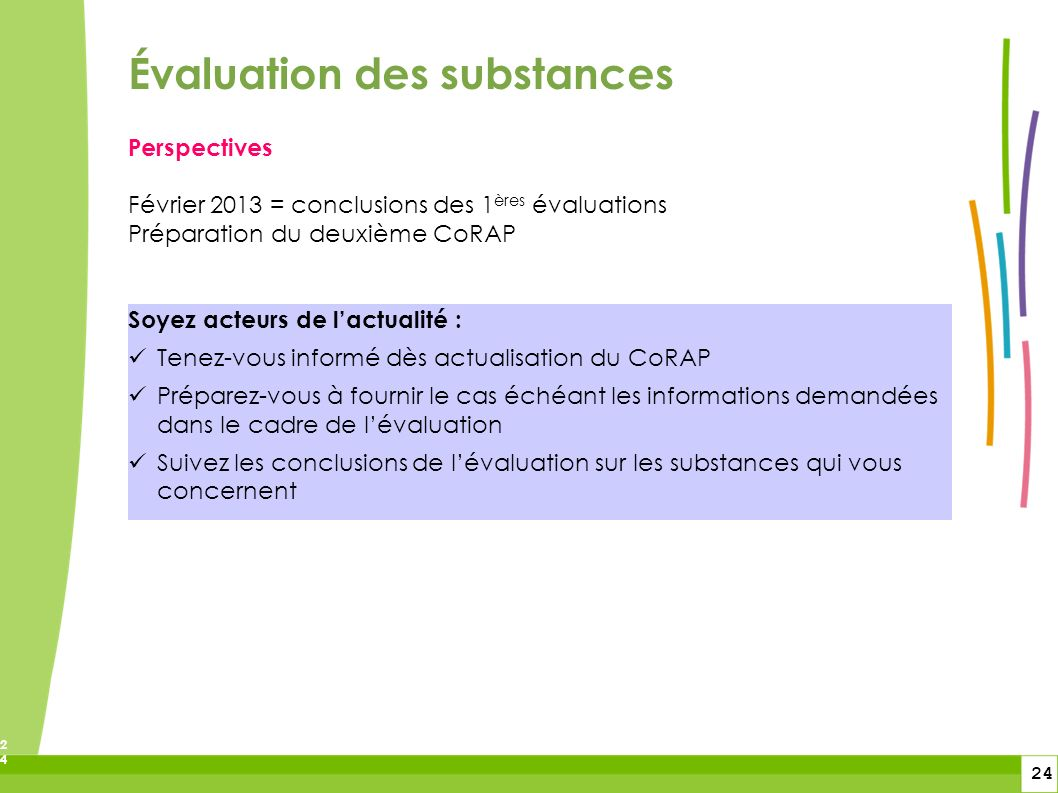 Évaluation des substances