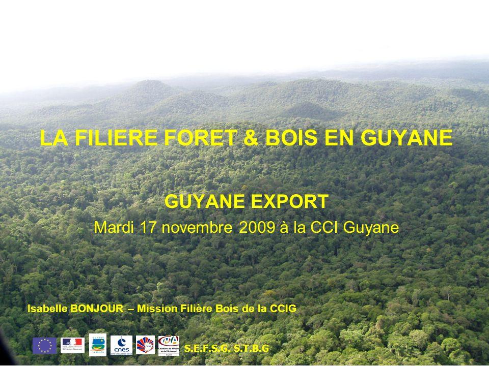 LA FILIERE FORET & BOIS EN GUYANE