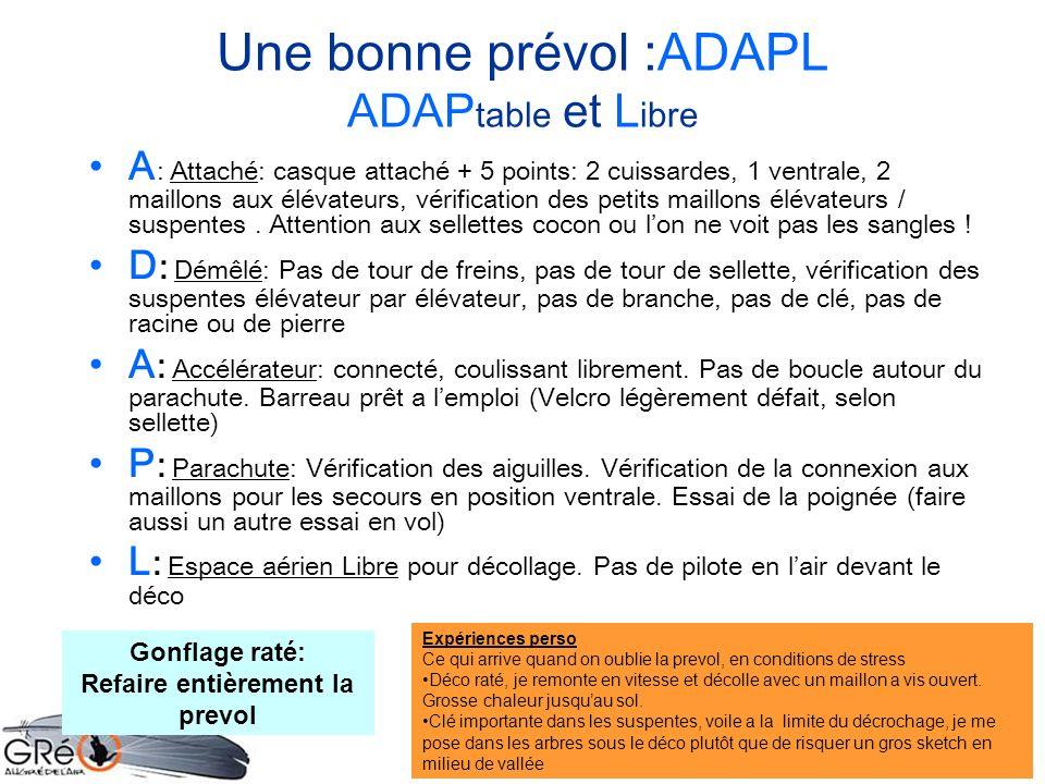 Une bonne prévol :ADAPL ADAPtable et Libre