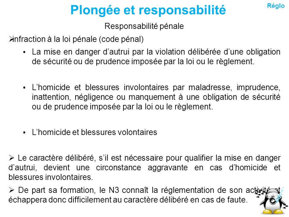 R glementation ppt t l charger - Coups et blessures volontaires code penal ...