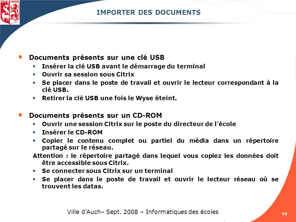IMPORTER DES DOCUMENTS