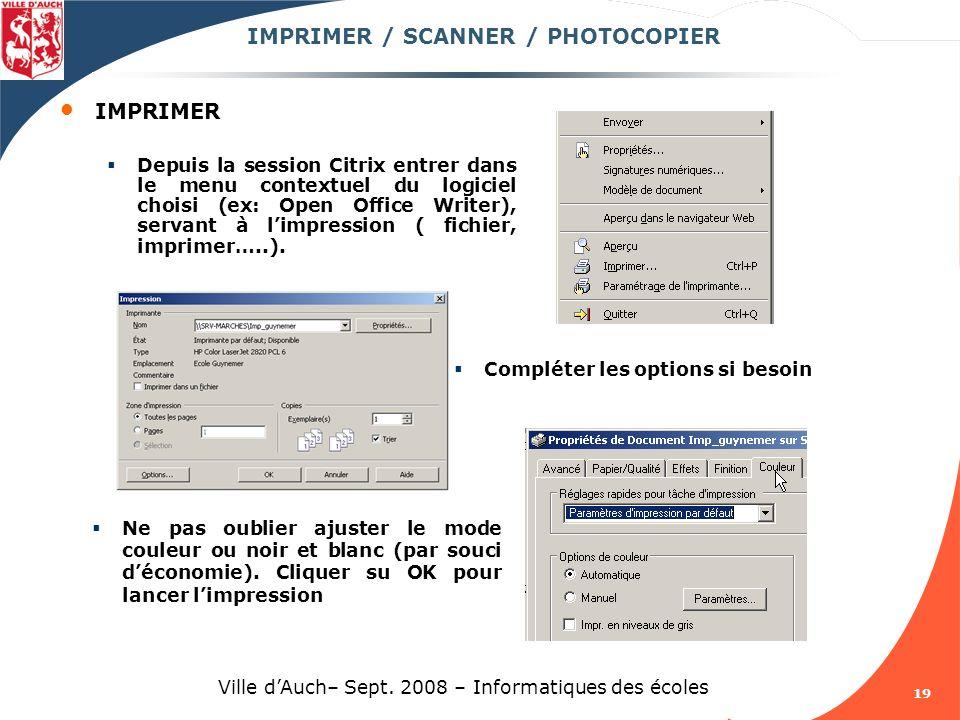 IMPRIMER / SCANNER / PHOTOCOPIER