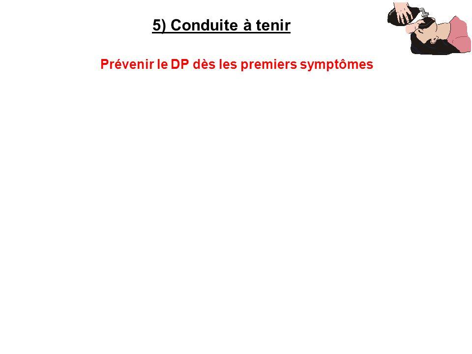 Prévenir le DP dès les premiers symptômes