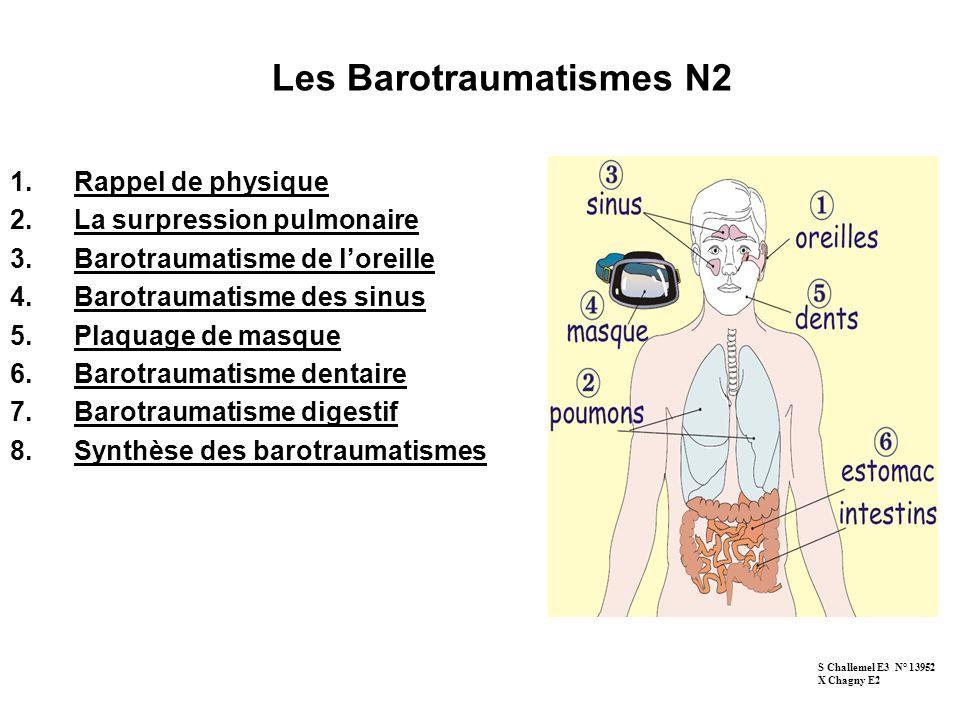 Les Barotraumatismes N2
