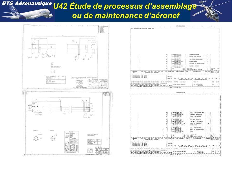 U42 Étude de processus d'assemblage ou de maintenance d'aéronef