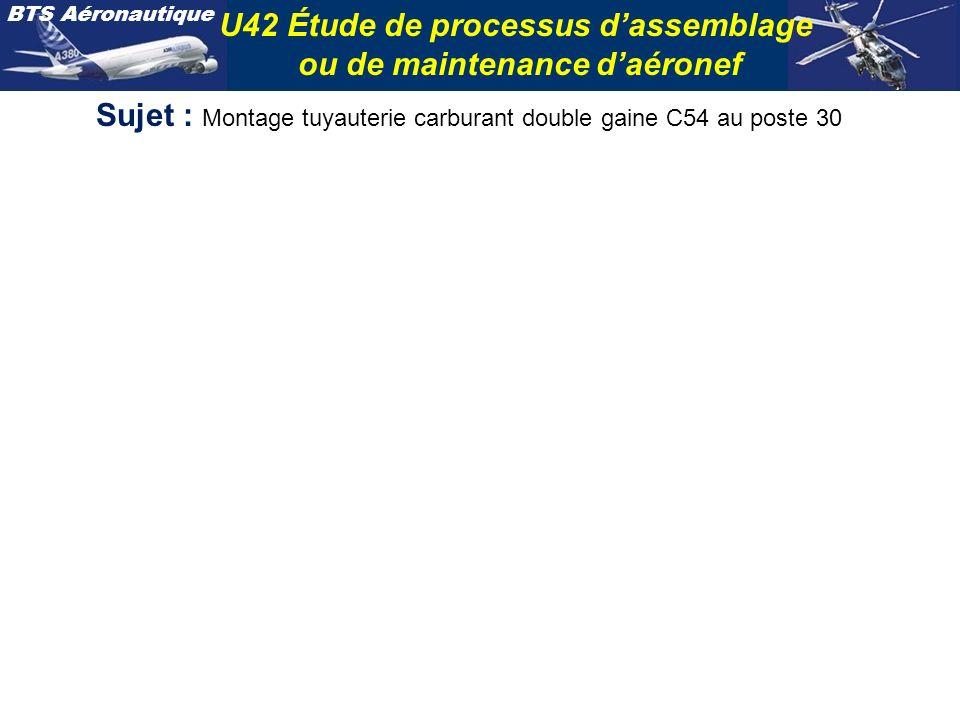 Sujet : Montage tuyauterie carburant double gaine C54 au poste 30