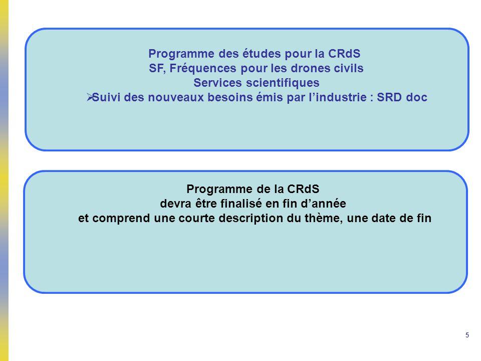 Programme des études pour la CRdS