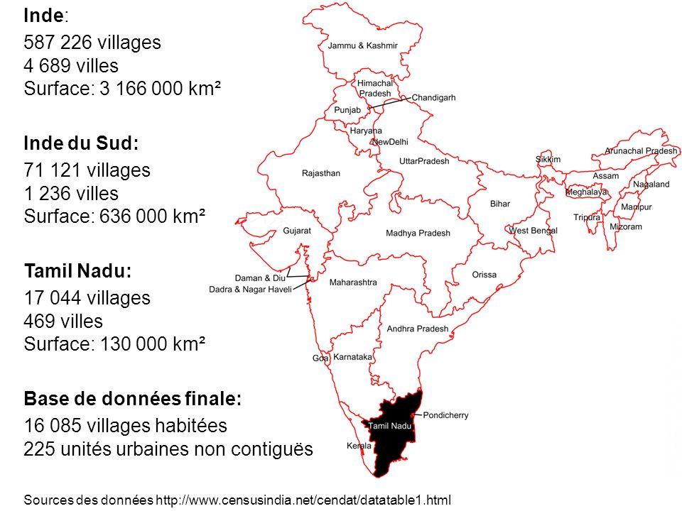 Base de données finale: 16 085 villages habitées