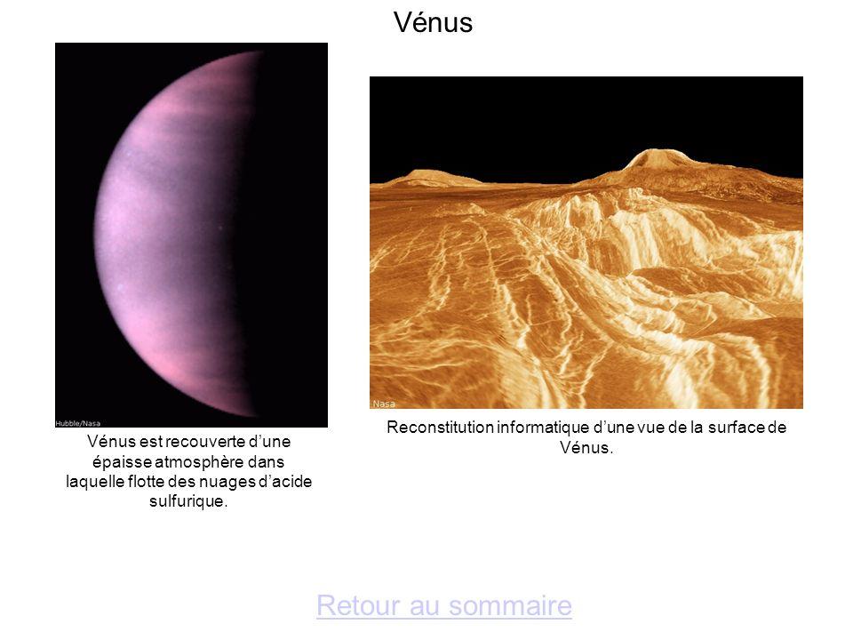 Reconstitution informatique d'une vue de la surface de Vénus.