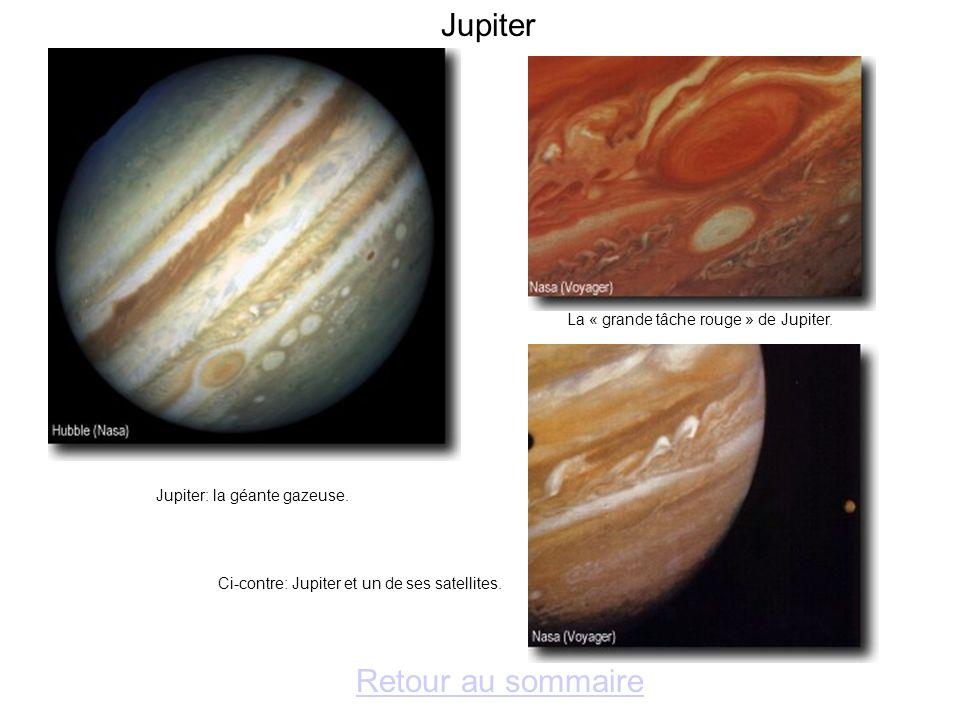 Jupiter Retour au sommaire La « grande tâche rouge » de Jupiter.