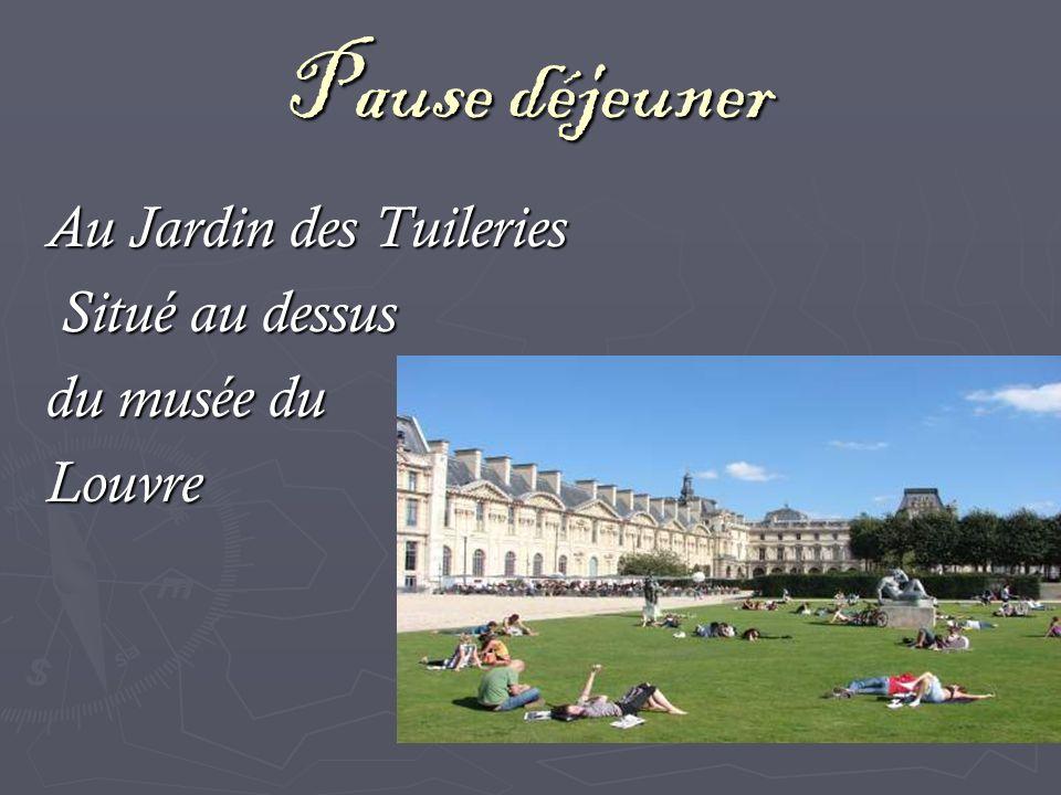 Pause déjeuner Au Jardin des Tuileries Situé au dessus du musée du