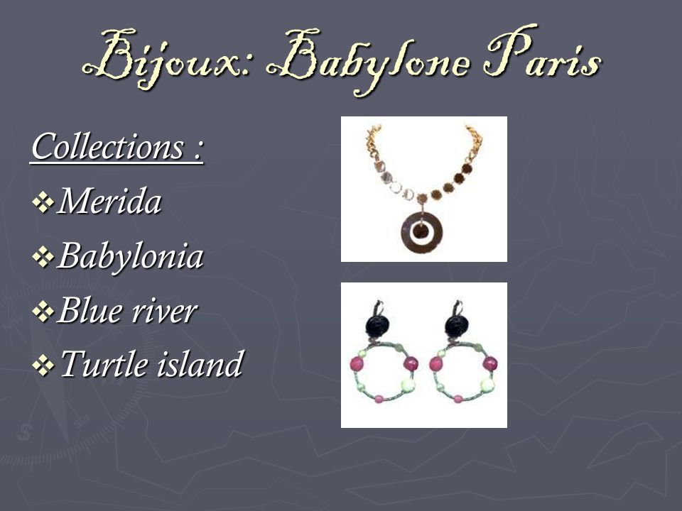 Bijoux: Babylone Paris